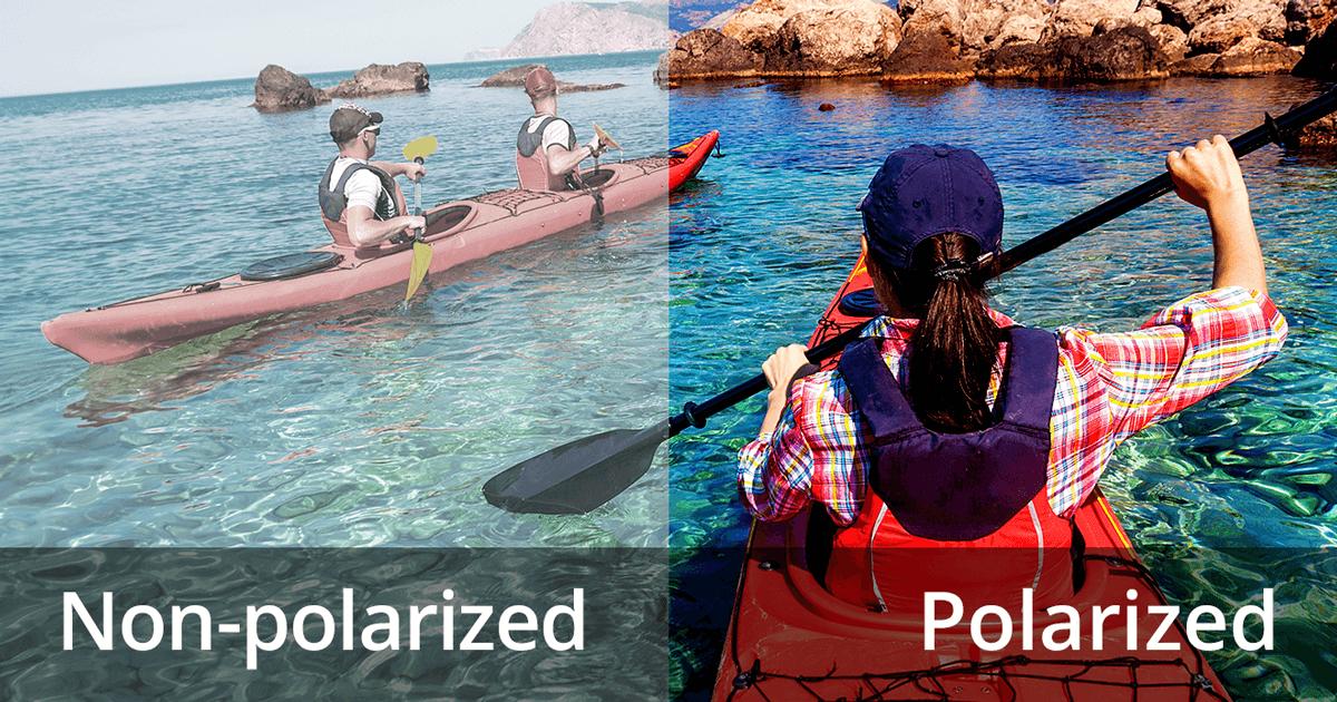Unterschied mit polarisierter Sonnenbrille
