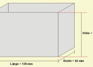 Länge x Breite x Höhe