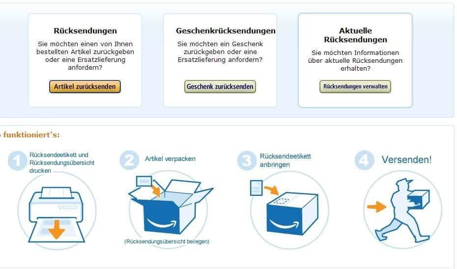 Amazon Rücksendung