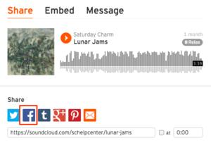 Musik von Soundcloud auf Facebook teilen
