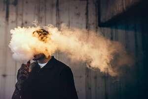 E-Zigarette Dampf
